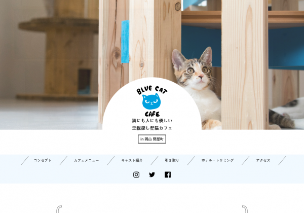 BLUE CAT CAFE様WEBサイト